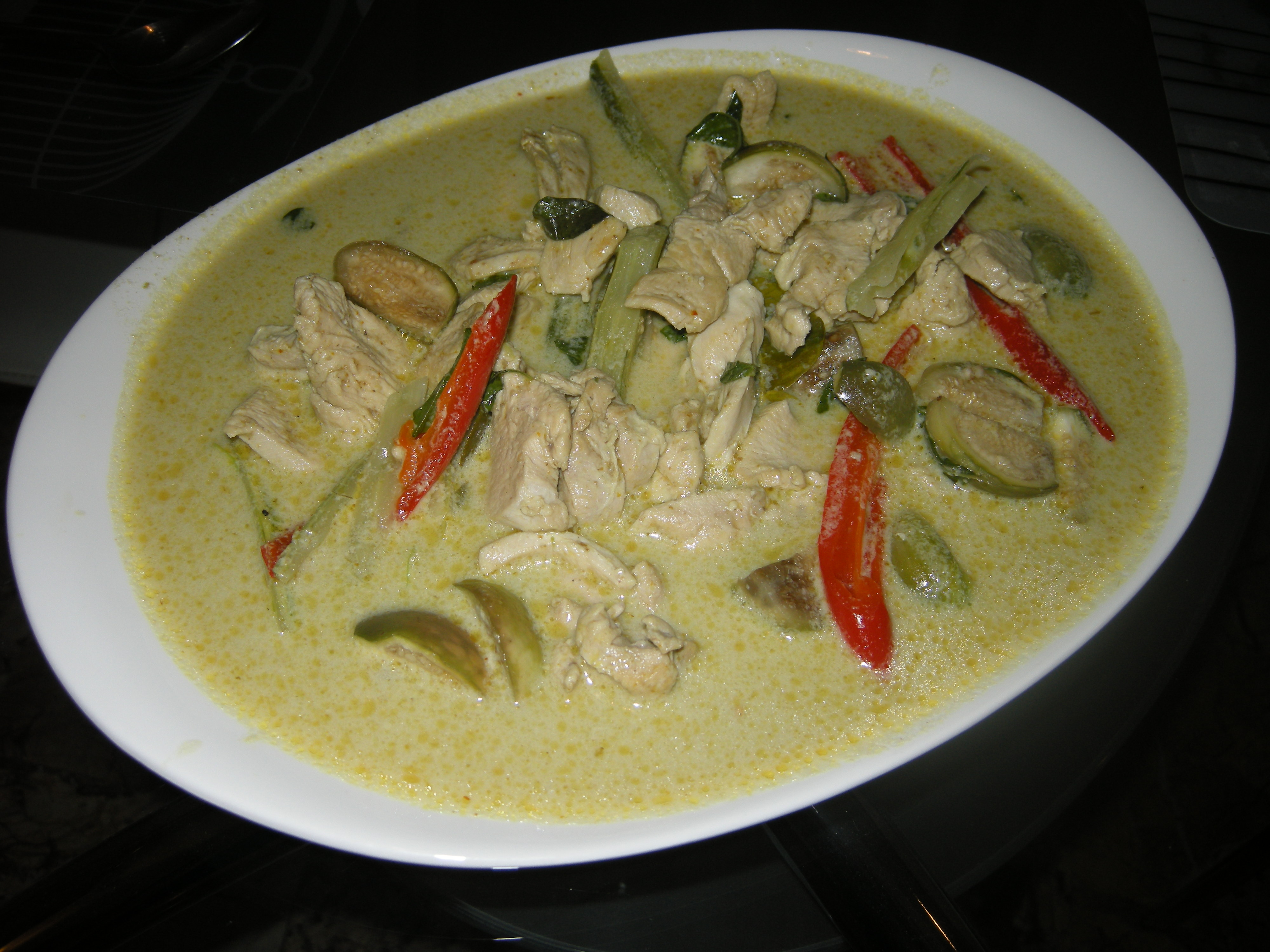 Curry vert au poulet gaeng kiew wan gai cuisine tha landaise - Cuisine thai poulet curry vert ...