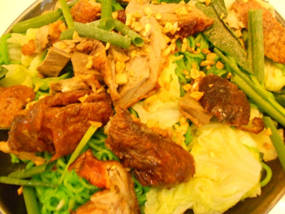 Canard rôti façon cantonaise et nouilles séchées