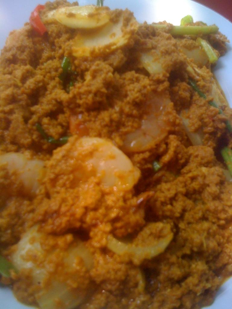 Curry aux crevettes