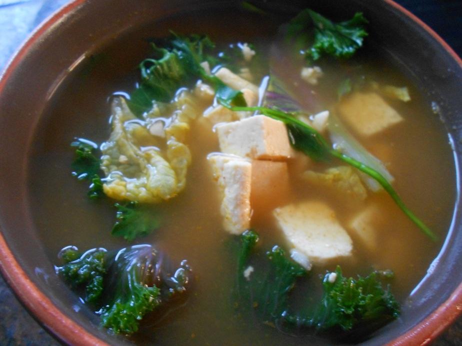 Soupe douce avec tofu แกงเต้าหู้