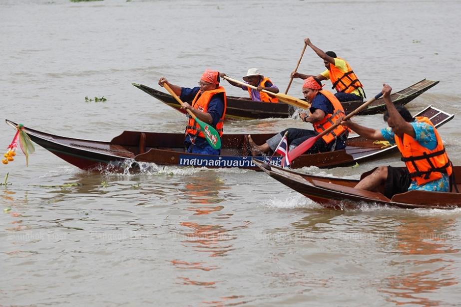 Photo: Course de canots enThaïlande